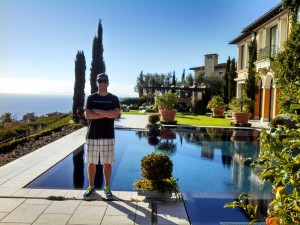 Jared Benson, owner of Newport Coast Pool Cleaning Company
