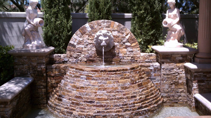 Fountain Serviced By Beachside Pool Service